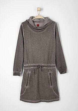 Sweatkleid mit Schalkragen