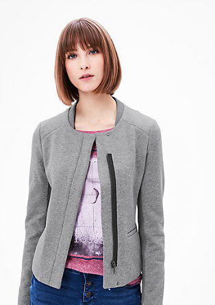 Sweatshirt blazer in a clean look from s.Oliver