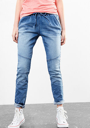 Sweatshirt denim joggers in a boyfriend style from s.Oliver