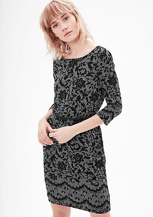 Sweatshirt dress in a lace look from s.Oliver