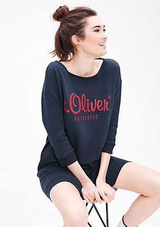 Sweatshirt dress with a printed logo from s.Oliver