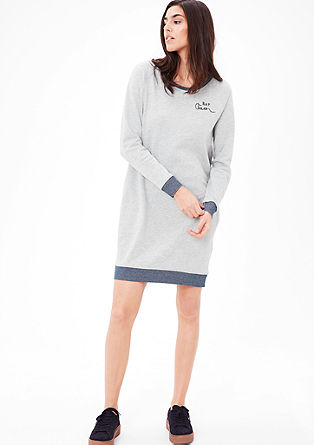 Sweatshirt dress with contrast details from s.Oliver