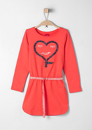 Sweatshirt dress with glitter belt from s.Oliver