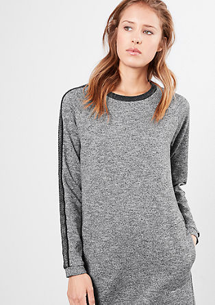Sweatshirt dress with glitter details from s.Oliver