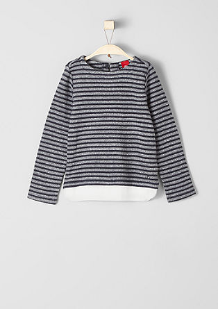 Sweatshirt im 2-in-1-Look