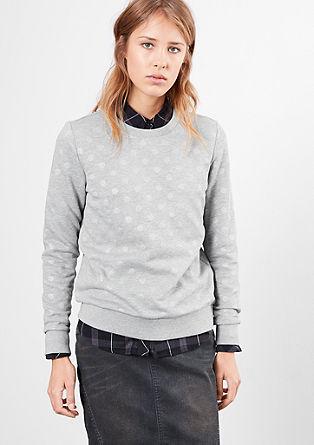Sweatshirt im Pünktchen-Look