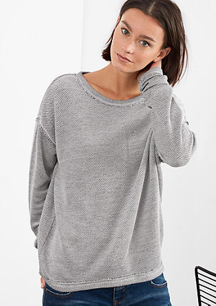 Sweatshirt in an inside-out look from s.Oliver