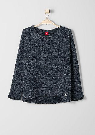 Sweatshirt in Bouclé-Optik