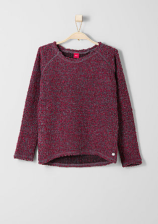 Sweatshirt in Bouclé-Optik