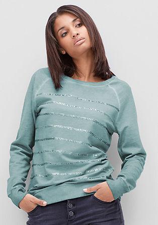 Sweatshirt in Cold Pigment Dye