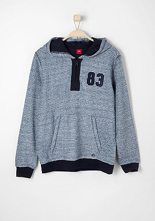 Sweatshirt in Strick-Optik