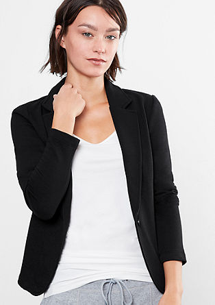 Sweatshirt jacket in a blazer style from s.Oliver