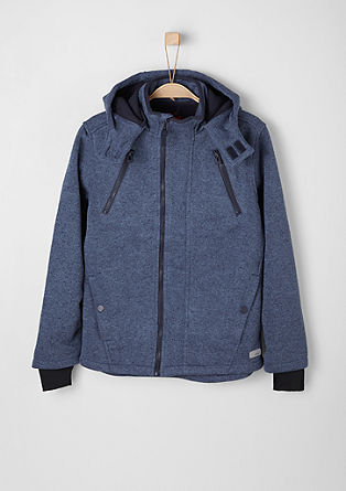 Sweatshirt jacket in a knit look from s.Oliver