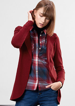 Sweatshirt jacket in a long blazer style from s.Oliver