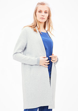 Sweatshirt jacket in a long design from s.Oliver