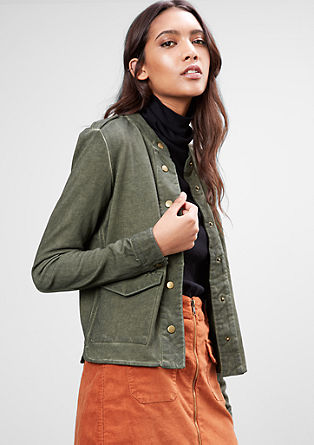 Sweatshirt jacket in a military style from s.Oliver
