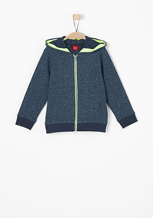 Sweatshirt jacket in a mottled design from s.Oliver