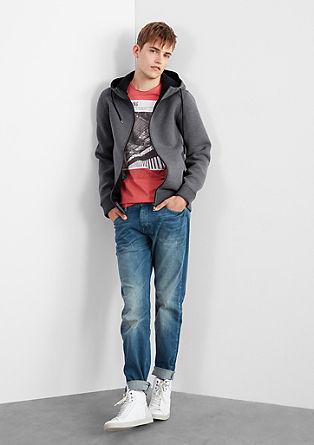 Sweatshirt jacket in a neoprene look from s.Oliver