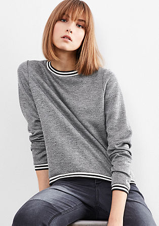 Sweatshirt jacket in a retro look from s.Oliver
