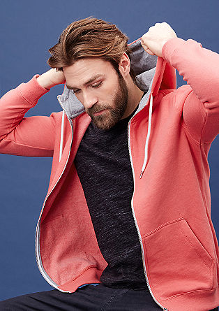 Sweatshirt jacket in soft jersey from s.Oliver