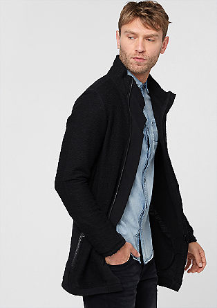 Sweatshirt jacket in textured jersey from s.Oliver