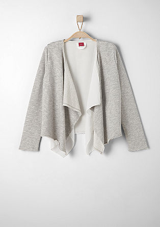 Sweatshirt jacket with a blouse detail from s.Oliver