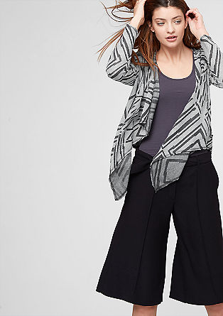 Sweatshirt jacket with a burnt-out pattern from s.Oliver