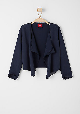 Sweatshirt jacket with a chiffon detail from s.Oliver