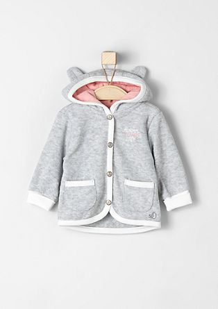Sweatshirt jacket with a cute hood from s.Oliver