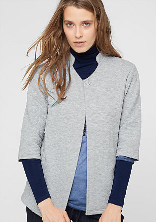 Sweatshirt jacket with a diamond texture from s.Oliver