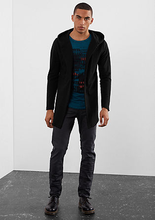 Sweatshirt jacket with a hood from s.Oliver