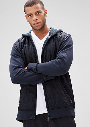 Sweatshirt jacket with a quilted front from s.Oliver