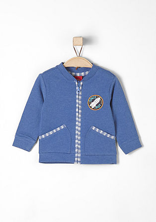 Sweatshirt jacket with a space logo from s.Oliver