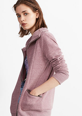 Sweatshirt jacket with a turtleneck from s.Oliver