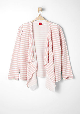 Sweatshirt jacket with chiffon layering from s.Oliver