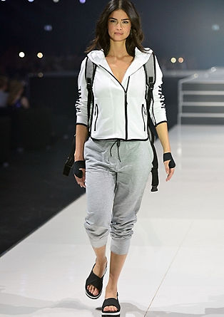 Sweatshirt jacket with contrasting details from s.Oliver