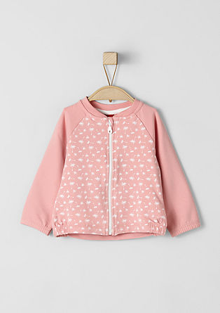 Sweatshirt jacket with dandelions from s.Oliver