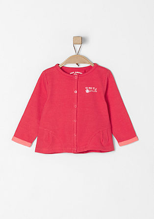 Sweatshirt jacket with details from s.Oliver