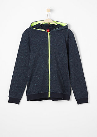 Sweatshirt jacket with neon accents from s.Oliver