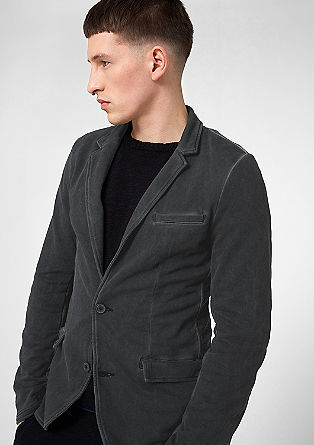 Sweatshirt jersey tailored jacket from s.Oliver