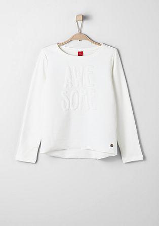 Sweatshirt met 3D-effect