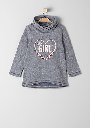 Sweatshirt met applicatie