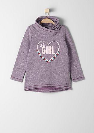 Sweatshirt met applicatie
