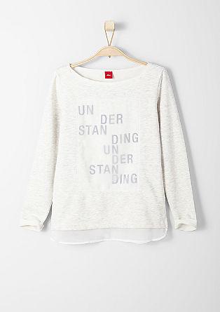 Sweatshirt met chiffon details