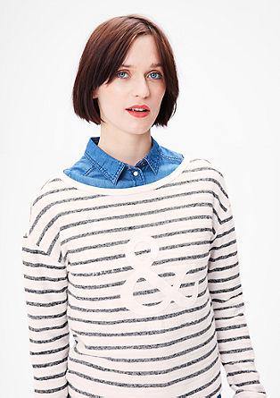 Sweatshirt met de look van badstof