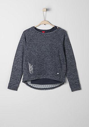 Sweatshirt met een dubbellook
