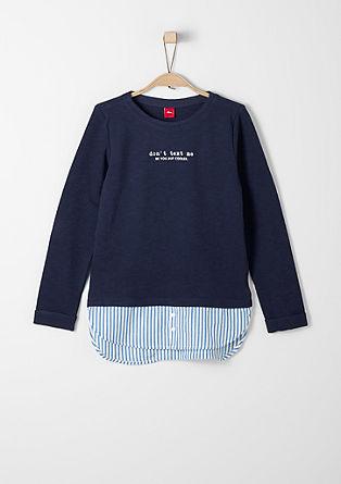 Sweatshirt met een laagjeslook