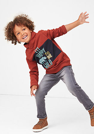 Sweatshirt met een print op de voorkant