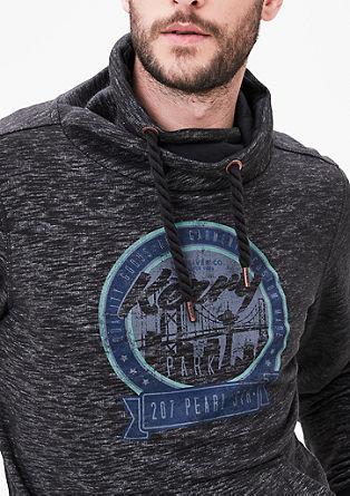 Sweatshirt met een sjaalkraag