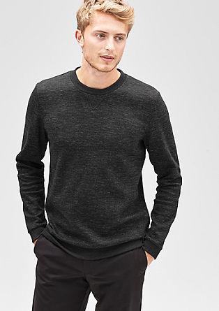 Sweatshirt met een visgraatlook